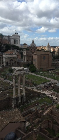 View of the Forum with the Temple of Castor and Pollux in the foreground